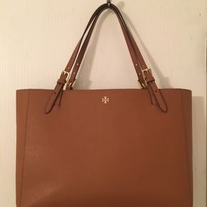 """Tory Burch """"York"""" Buckle Tote Saffiano Leather"""